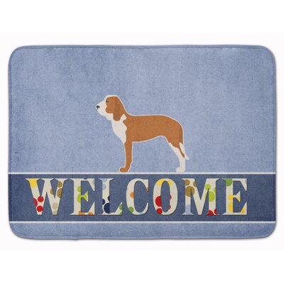 Spanish Hound Welcome Memory Foam Bath Rug