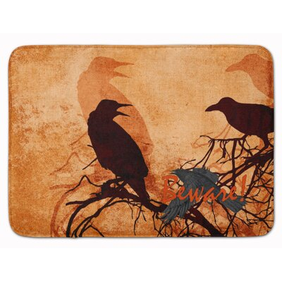 Halloween Beware of the Crows Memory Foam Bath Rug