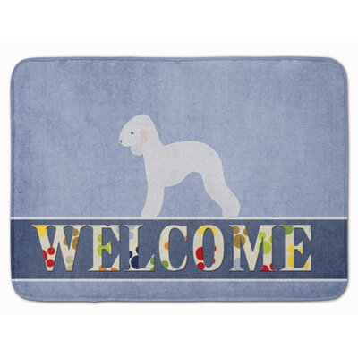 Bedlington Terrier Welcome Memory Foam Bath Rug