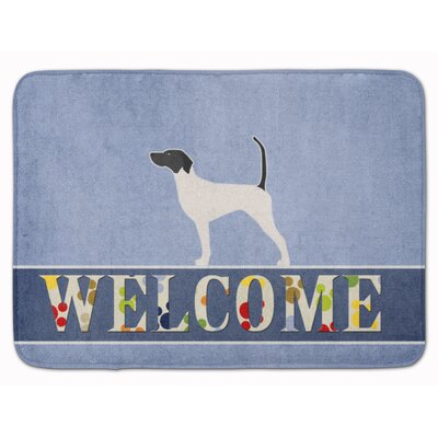 English Pointer Welcome Memory Foam Bath Rug