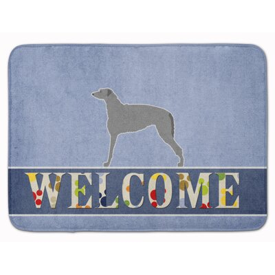Scottish Deerhound Welcome Memory Foam Bath Rug