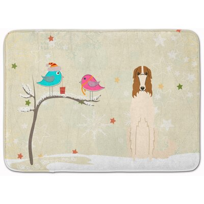 Christmas Presents Friends Borzoi Memory Foam Bath Rug