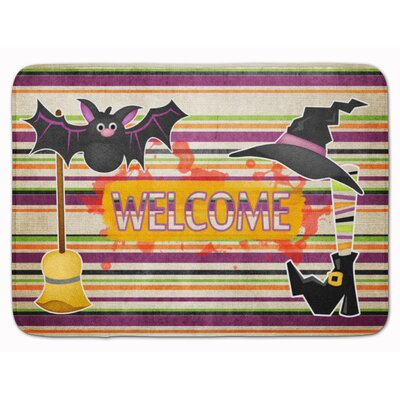 Halloween Witch Costume and Broom Memory Foam Bath Rug