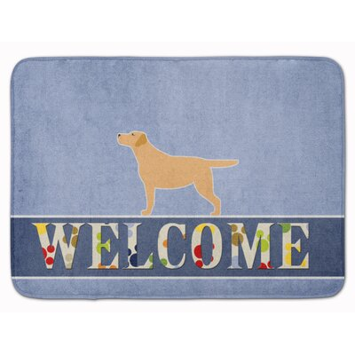 Kildare Labrador Retriever Welcome Memory Foam Bath Rug