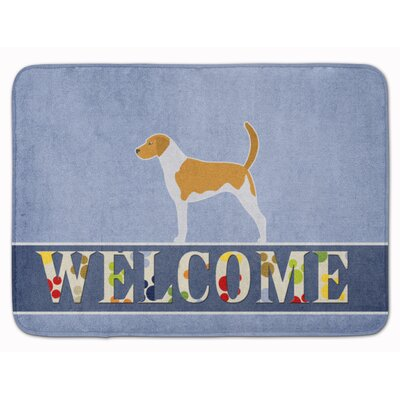 American Foxhound Welcome Memory Foam Bath Rug