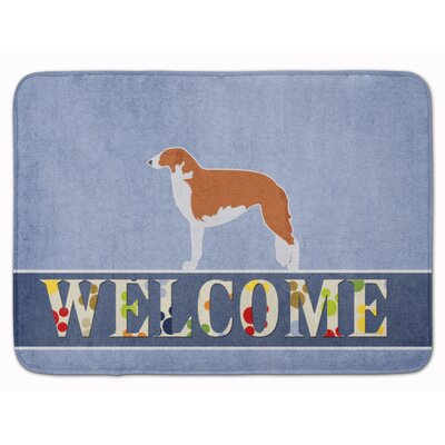 Borzoi Russian Greyhound Welcome Memory Foam Bath Rug