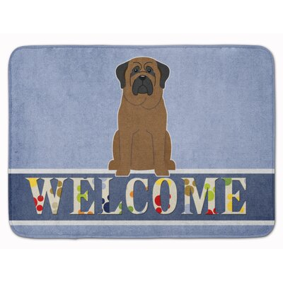 Bullmastiff Welcome Memory Foam Bath Rug