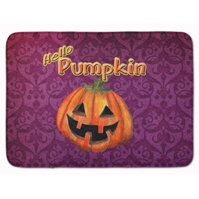 Halloween Hello Pumpkin Memory Foam Bath Rug