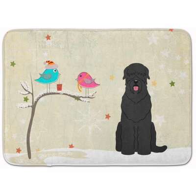 Christmas Russian Terrier Memory Foam Bath Rug
