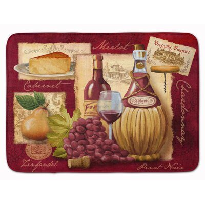 Wine and Cheese Memory Foam Bath Rug
