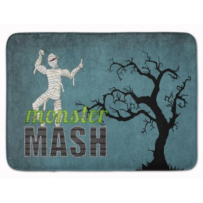 Halloween Monster Mash with Mummy Memory Foam Bath Rug