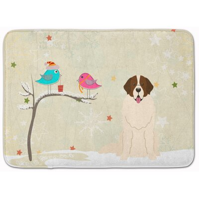 Christmas Presents Moscow Watchdog Memory Foam Bath Rug
