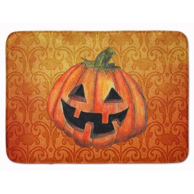 Halloween October Pumpkin Memory Foam Bath Rug