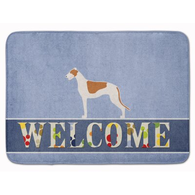 Welcome Greyhound Memory Foam Bath Rug