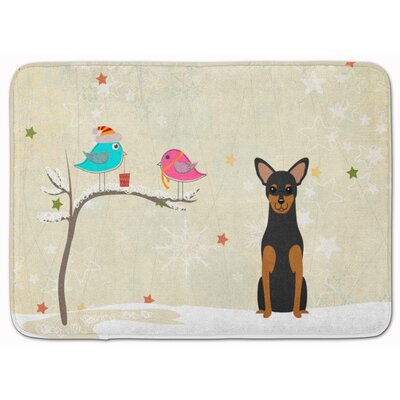 Christmas Presents Manchester Terrier Memory Foam Bath Rug