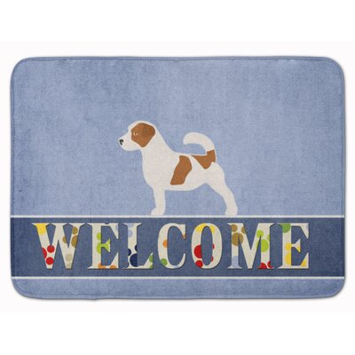 Keston Jack Russell Terrier Welcome Memory Foam Bath Rug