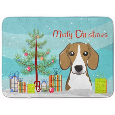 Christmas Tree and Beagle Memory Foam Bath Rug