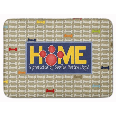 Home is protected spoiled rotten dogs Memory Foam Bath Rug
