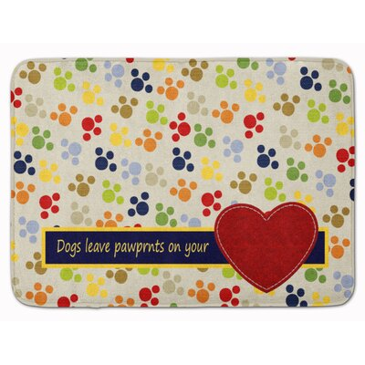 Dogs Leave Paw Prints On Your Heart Memory Foam Bath Rug