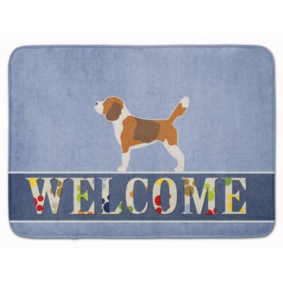 Beagle Welcome Memory Foam Bath Rug