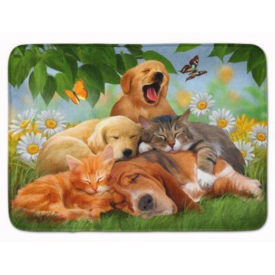 Retriever Labrador Sleepy Heads Memory Foam Bath Rug