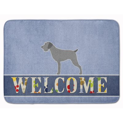 German Wirehaired Pointer Welcome Memory Foam Bath Rug