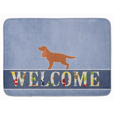 English Cocker Spaniel Welcome Memory Foam Bath Rug