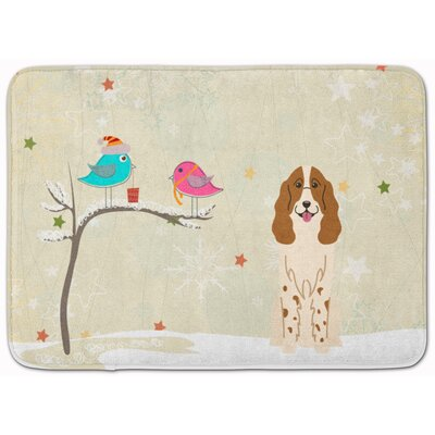 Christmas Presents Russian Spaniel Memory Foam Bath Rug