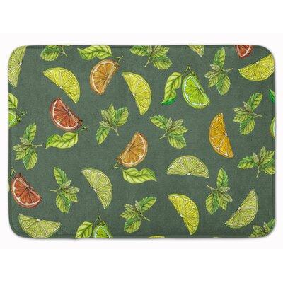 Lemons, Limes and Oranges Memory Foam Bath Rug Color: Green