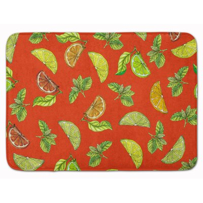 Lemons, Limes and Oranges Memory Foam Bath Rug Color: Orange
