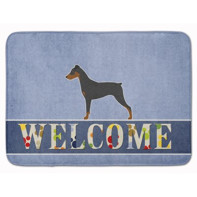 German Pinscher Welcome Memory Foam Bath Rug