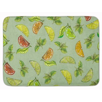 Lemons, Limes and Oranges Memory Foam Bath Rug Color: Lime Green