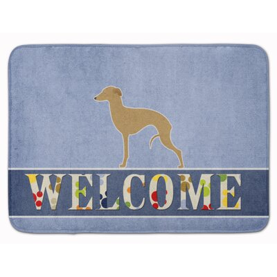 Owensville Italian Greyhound Welcome Memory Foam Bath Rug