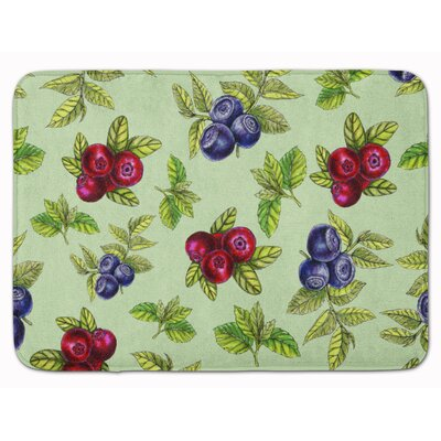 Berries Bath Rug Color: Green