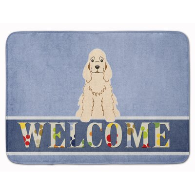 Cocker Spaniel Buff Welcome Memory Foam Bath Rug Color: Cream