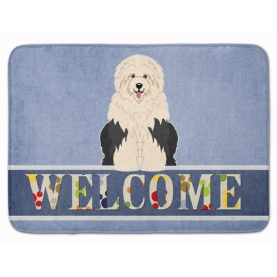 Old English Sheepdog Welcome Memory Foam Bath Rug