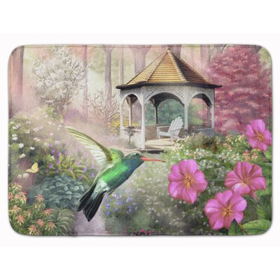 Garden Gazebo Humming Bird Memory Foam Bath Rug