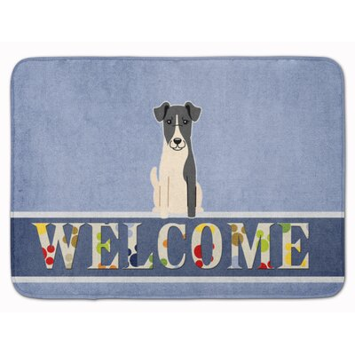 Fox Terrier Smooth Welcome Memory Foam Bath Rug