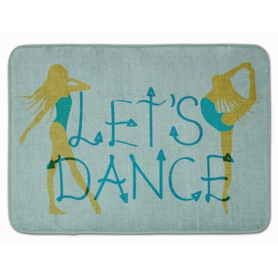 Lets Dance Linen Teal Memory Foam Bath Rug