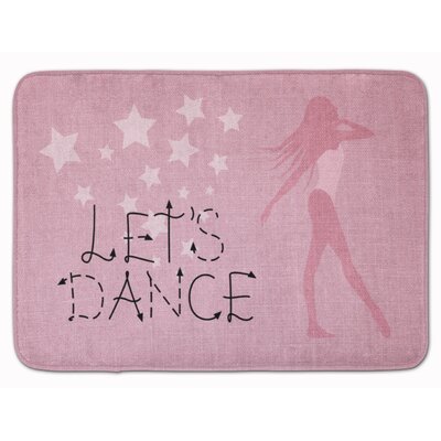 Lets Dance Linen Memory Foam Bath Rug