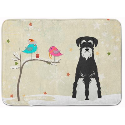 Christmas Schnauzer Salt and Pepper Memory Foam Bath Rug