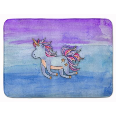 Zoe Unicorn Watercolor Memory Foam Bath Rug