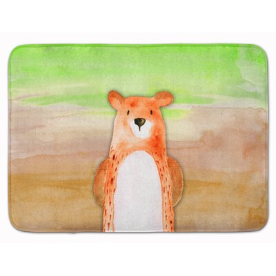 Bear Watercolor Memory Foam Bath Rug