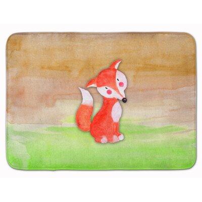 Fox Watercolor Memory Foam Bath Rug