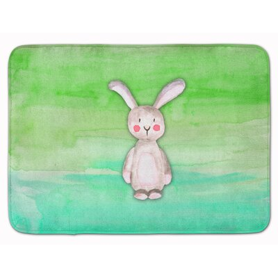 Beulah Rabbit Bunny Watercolor Memory Foam Bath Rug