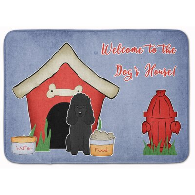 Dog House Poodle Memory Foam Bath Rug Color: Black