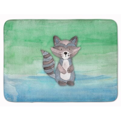 Raccoon Watercolor Memory Foam Bath Rug