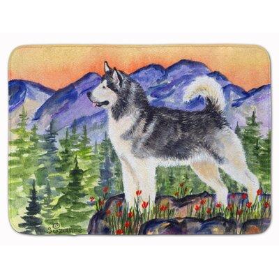 Alaskan Malamute Memory Foam Bath Rug