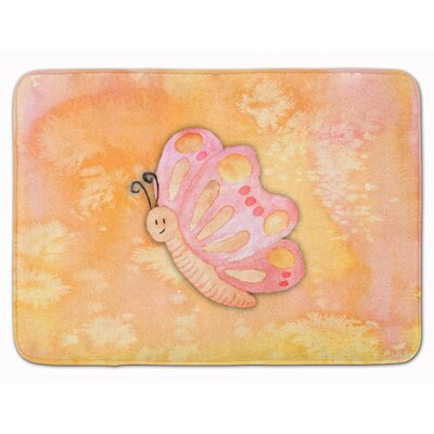 Butterfly Watercolor Memory Foam Bath Rug