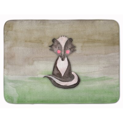 Badger Watercolor Memory Foam Bath Rug